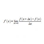 微分の定義から導関数を求める